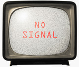 NO SIGNAL TV noise poster