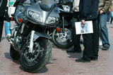 Motorcycles on exhibition. poster