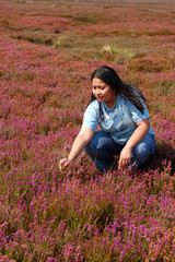 Lady amongst Wild Heather