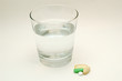Glass Of Water And Vitamins