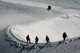 Alpinistes en cordée poster
