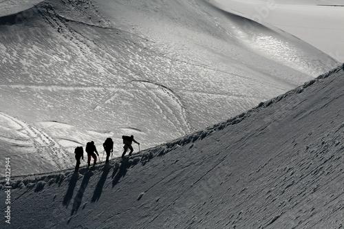 canvas print picture Alpinistes sur une arete