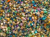 Semi-precious stones background poster
