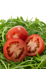 Tomatoes and rocket
