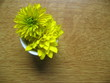 yellow flower on table