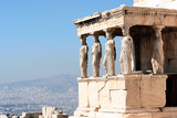 porch of the caryatids, in athens poster
