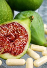 green figs and vitamin supplements