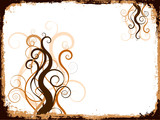 Grunge swirls and curls poster