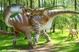 Fototapety Deinonych attacking Iguanodon