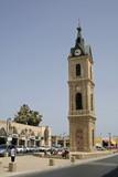 Clock tower in Jaffa, tel aviv,israel poster