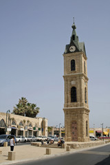 Clock tower in Jaffa, tel aviv,israel