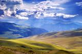 Fototapete Bewölkung - Kazakhstan - Mittelgebirge