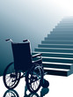 Wheelchair and stairs