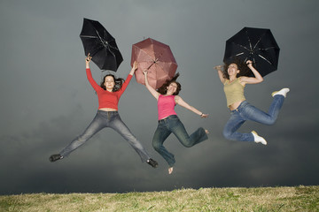 jump under storm-cloud