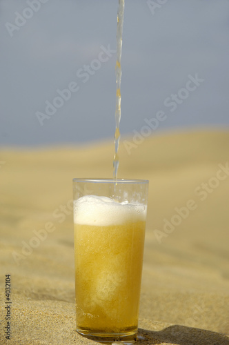 Serving beer in desert