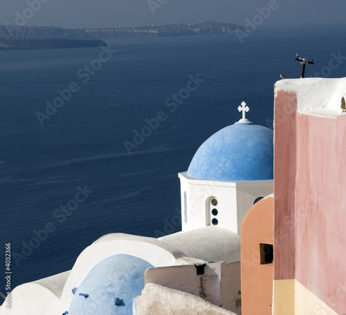 greek church santorini island