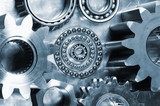 gears and mechanical parts idea  poster