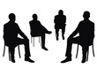 isolated businessmen on chair