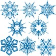 Snowflakes C - illustration