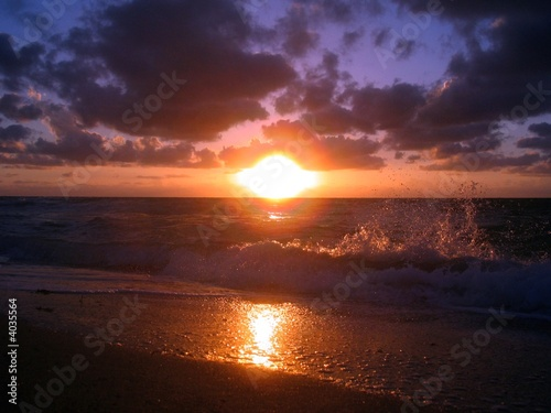 canvas print picture Sonnenaufgang Miami Beach