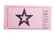 Pink star ticket