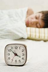 Alarm-clock and sleepyhead