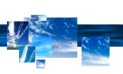 sky montage design background