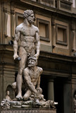 Sculpture in front of Palazzo Vecchio. Italy. poster