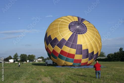 In de dag Ballon Hot air balloon preparation