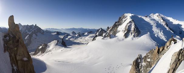 Panoramique massif du Mont Blanc