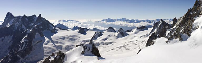 Panoramique vallée blanche