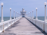 Pier with observation tower poster