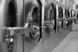 Laundromat doors
