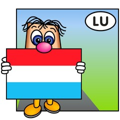'Paley' Showing the Flag of Luxembourg