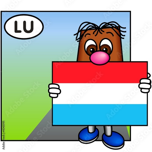 'Brownie' Bearing the Flag of Luxembourg