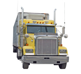 Yellow Semi Truck