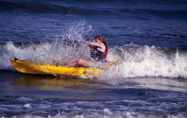 Woman Kayaker
