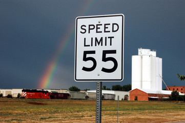 55 MPH Speed Limit - Rural Road