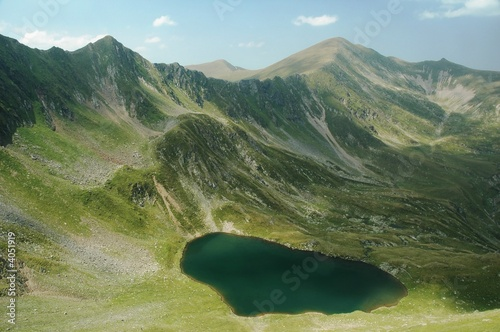 lake in Fagaras mountains, Romania