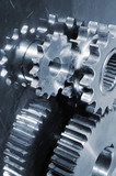 gear mechanics against steel poster
