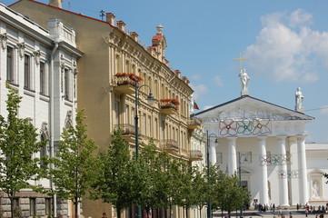place de la cathédrale de Vilnius