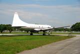 Vintage propeller driven airplane poster