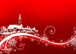 Abstract red xmas - Highly detailed illustration