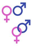 Symboles masculin et féminin poster