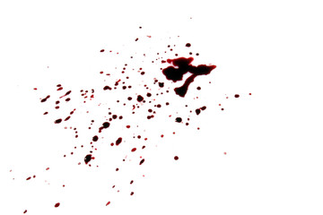 bloody stain isolated on white