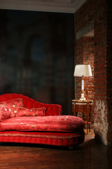 Beautiful red sofa