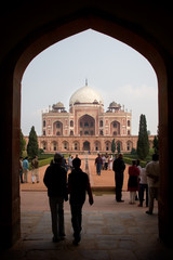 view to Humayun's Tomb