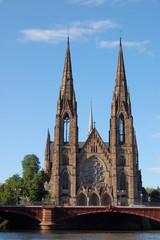 église gothique  de strasbourg