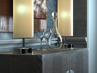 Classical minimalist interior (detail)