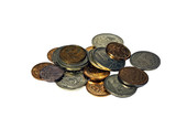 Heap of Russian coins poster
